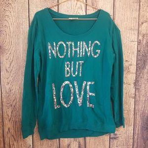 Arizona Jean company Teal sweater slogan size XL